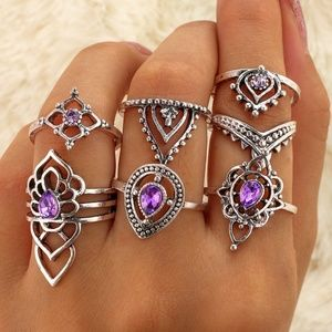 Ancient Silver & Amethyst CZ Ring Collection